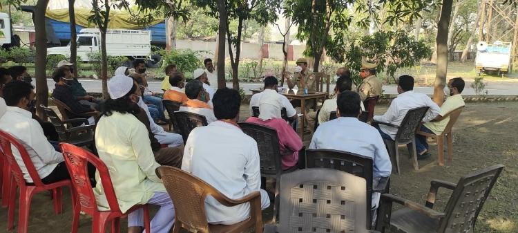 शक्तिनगर एसएचओ मिथिलेश मिश्रा ने ईद के मद्देनजर पीस कमेटी की बैठक किया